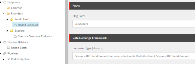 Sitecore's Data Exchange Framework Reddit Style Part 1