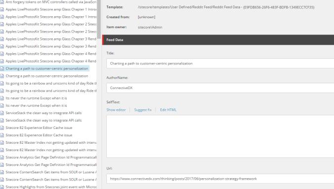 Sitecore's Data Exchange Framework Reddit Style Part 5 the